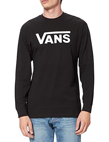 Vans Classic LS Camiseta de Manga Larga para Hombre (Black/White), XL
