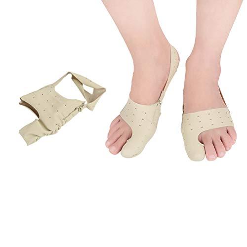 Healifty - Par de rectificadores de juanetes grandes Hallux Valgus para dedos de los pies (talla M), color amarillo claro