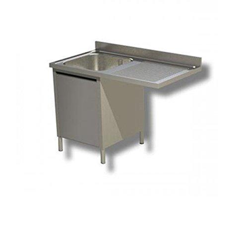 Lavoir inoxydable armadiato 1 cuve + égouttoir DX/SX pour lave-vaisselle Dim.CM 120 x 70 x 85h