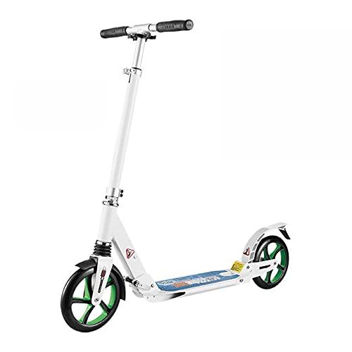 Hou Hexin Trade Truco Scooter Stunt Scooter Adulto Diferentes diseños para Elegir, Scooter de Acrobacias Borde de Aluminio, Ruedas de PU de 100 mm Scooter de Truco (Color : White)