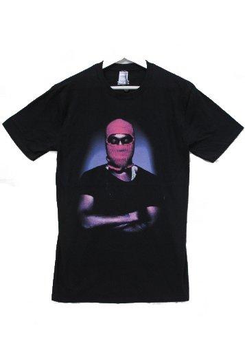 Actual Fact Kanye West pasamontañas Rapper Hip Hop negro cuello redondo Tee Camiseta Negro negro