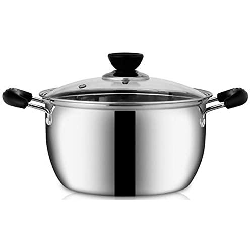 Nonstick Stock Pot Milk Soup Pan Stockpot Saucepan Butter Warmer Lightweight Dishwasher Safe Healthy Coating Stainless Steel (Color : 26cm)