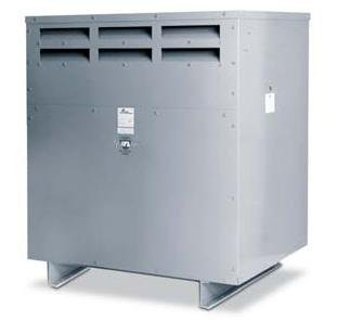 Acme Electric T2A533291S Dry Type Distribution Transformer, 3 Phase, 480V Delta Primary Volts, 240V Delta/120V Tap Secondary Volts, 60 Hz, 6 kVA