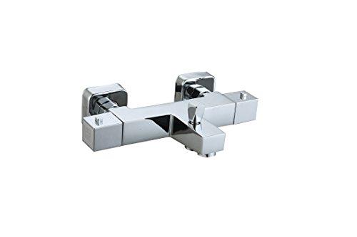 DP Grifería TTTALA-0001 Grifo termostático de bañera, Plateado