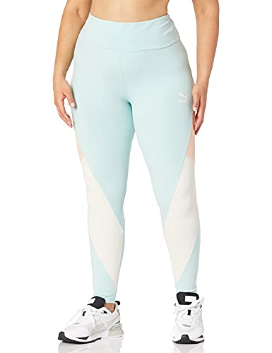 PUMA CLSX High Waist Leggings, Color Azul Brillante, M para Mujer