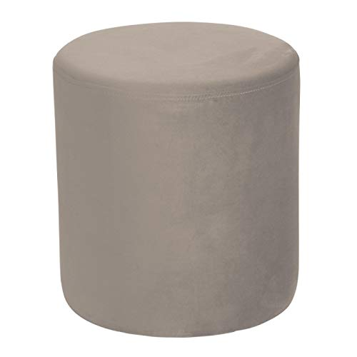 TABLE PASSION - Pouf Joye Velours 40 cm Taupe