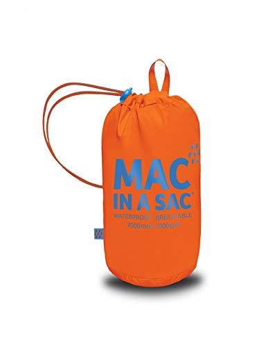 Mac in a Sac New Neon - Unisex Regenjacke - wasserdicht - mit Tasche zum Verstauen - Neonfarben - Neonorange - M