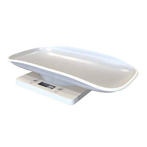 Huisdier weegschaal, Digitale huisdier weegschaal, baby schaal keukenweegschaal, gewicht 10 kg capaciteit, groot LCD-scherm, met comfortabele gebogen platform