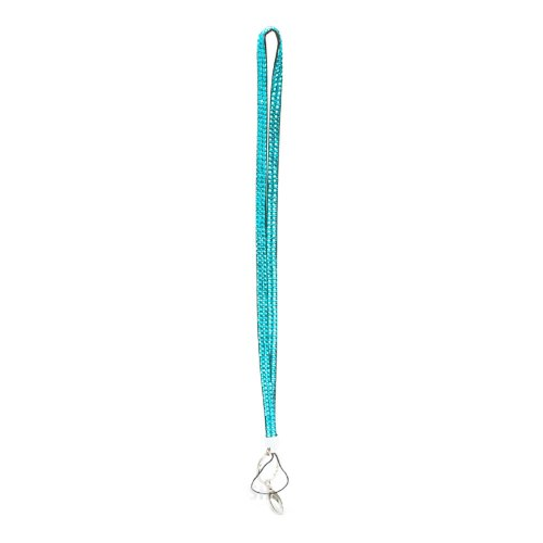 Teal Blue Crystal Rhinestone Lanyard Badge Holder