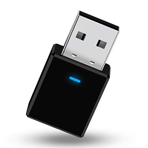 DBSUFV Transmisor Receptor USB 5.0 + EDR Adaptador 2 en 1 para TV PC Auriculares Adaptador de Audio Inalámbrico de Coche Estéreo para el Hogar