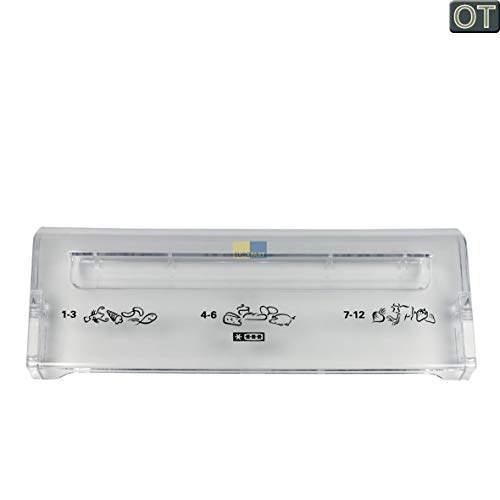 Klappe, Blende bedruckt passend für AEG Electrolux Gefriergutfach, Gefrierfach - Nr.: 227104952, 2271049526 ersetzt 227104955, 2271049559