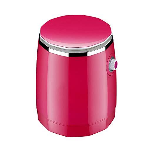 WFFH Mini Lavadora, Tambor pequeño, semiautomático, Tambor Simple con función de Secado, Lavadora/centrifugadora para Ropa Interior, Calcetines, Ropa,Rojo