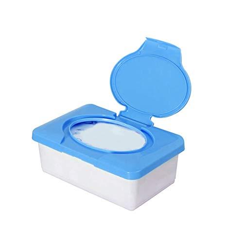 Caja De PañUelos Caja de pañuelos húmeda sello para bebé toallitas de bebé caja del dispensador de la caja del dispensador de plástico para el hogar Caja de tejido a prueba de polvo con tapa Caja PañU