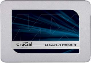 Crucial MX500 1TB SATA with 9.5mm Adapter, CT1000MX500SSD1 (with 9.5mm Adapter Internal SSD)