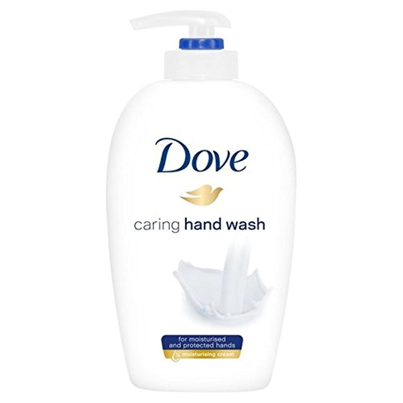 生き物パーク備品鳩思いやり手洗い250ミリリットル x4 - Dove Caring Hand Wash 250ml (Pack of 4) [並行輸入品]