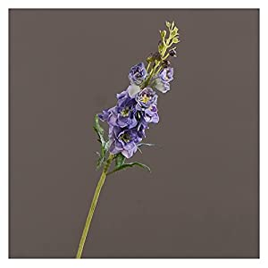 tcg Lifelike Indoor High-End Artificial Flowers, Hand-Feel Moisturizing Artificial Flowers, 5 Artificial Delphinium Flowers for Indoor Decoration Table Blue Flowers (White) Coquettish