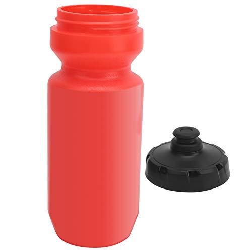 jadenzhou Botella de Agua para Bicicletas, Botella de Agua para Deportes Botella de Agua para Bicicletas para Bicicletas de montaña para Bicicletas eléctricas(Red)