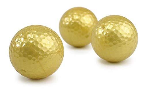 Unbekannt Golfballset Gold, Dreierpack, golden Golfballs, Golfgeschenke