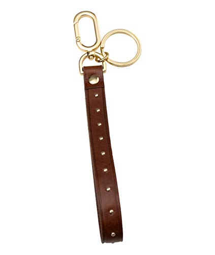 Liebeskind Berlin Damen Essential Keyring Studs Schlüsselanhänger, Braun (Bourbon), 1x20x1 cm
