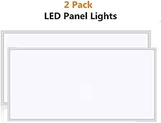 LED Panel Light, 2x4 FT 7800LM 5000K Daylight White Ceiling Flat Panel Light,100-277VAC(2 Pack of 2x4FT 75W)