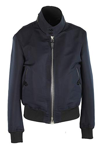 CL - Tom Ford Blue Bomber Jacket Size 50 / 40R U.S. In Cotton Silk