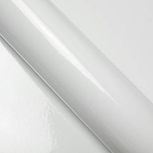 DIMEXACT Film Covering Blanc Brillant 3D Air Escape pour Voiture, de Largeur : 1.52 m x Longueur : 0.5 m, en Rouleau