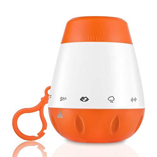 White Noise Baby Sleep Sound Machine Tragbare, Sanfte 6-töne, Einschließlich Schlaflied-beruhigungsschnuller Zum Schlafen, Reisen Mit Sensorfunktion, Einstellbare Lautstärke, Fauay