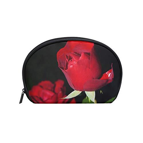 Sac cosmétique avec fermeture à glissière Rose sac de rangement de voyage d'embrayage sac de maquillage sac pochette organisateur pour les femmes