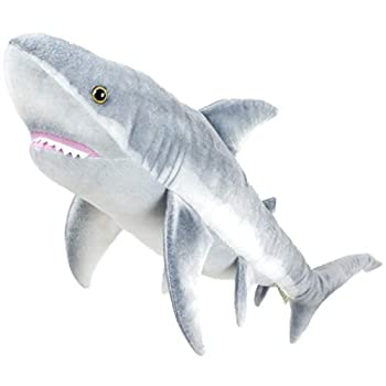 Sammy The Shark - 34 Inch Long Great White Stuffed Animal Plush - by Tiger Tale Toys
