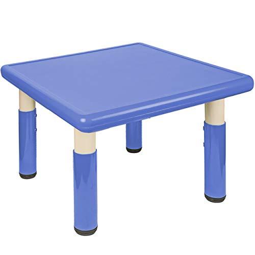 alles-meine.de GmbH Kindertisch / Tisch - höhenverstellbar - Größen & Farbwahl - 1 bis 8 Jahre - blau - Plastik - für INNEN & AUßEN - Kindermöbel - für Kinder - Mädchen & Jungen ..