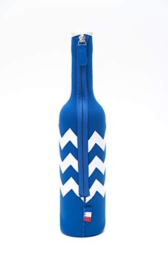 MERCHANDISING Grey Goose Vodka flessenkoeler van neopreen, blauw met ritssluiting, groot 1,5 L