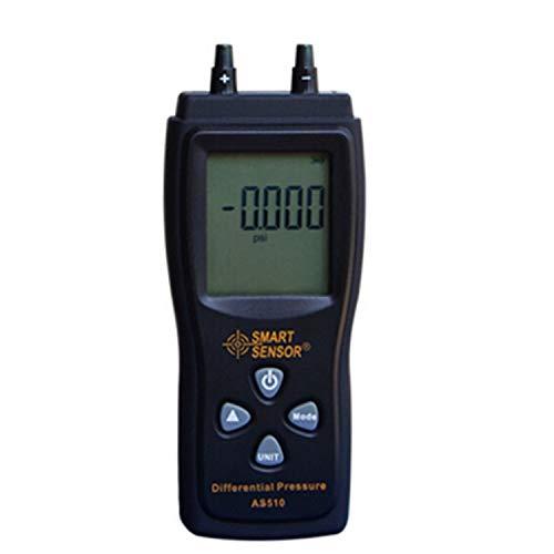 HYY-YY Manometer Digital-Luftdruck-Differenzdruckmesser 0-100 hPa / 0-45,15 In H2O Digital Negative Spur Vakuum-Druck-Mete AS510 Präzisions-Messgerät