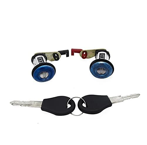 YULUBAIHUO 80600/1-50J00 Bloqueo de Cerradura de la Puerta Derecha Izquierda con 2 Llaves Aptos para Nissan Primera P10 Micra K11