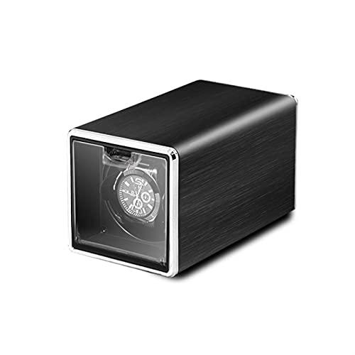JINGGL Caja giratoria para Relojes Reloj automático Winder Box Accesorios Mostrar mecánico Solo Reloj Giratorio para Hombres Reloj automático (Color : WW-8802-MW)