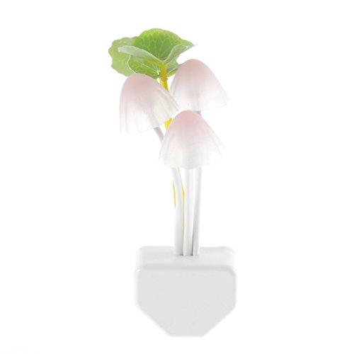 KinshopS - Luz nocturna LED con sensor de luz de 7 colores y enchufe de EE. UU.