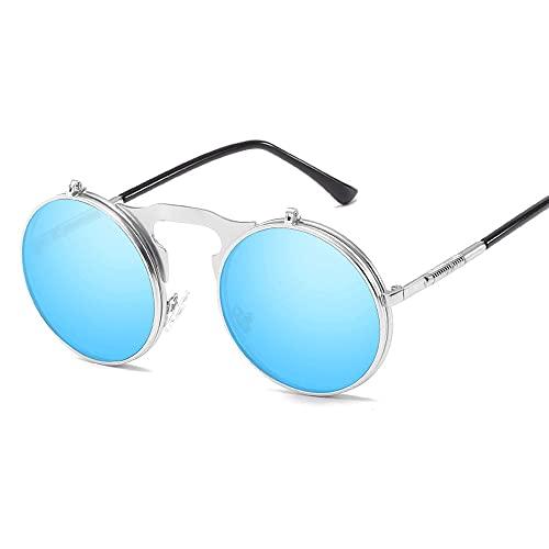 Gafas De Sol para Hombre Y Mujer Moda Marco De Metal Gafas ProteccióN para ConduccióN Gafas De Deportes Al Aire Libre De Pesca De Moda Regalo De San ValentíN (Color : Blue)