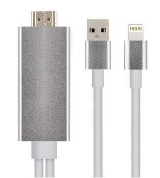 HDTV kabel voor iPhone 5 5S 6 6S Lightning naar HDMI adapter / Bekijk het beeld van uw telefoon op TV (geen video) / Zilver