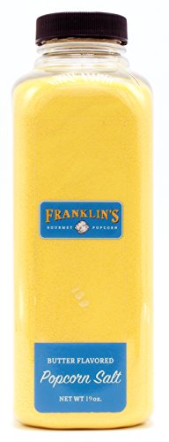 Franklin's Gourmet Popcorn Butter Flavored Salt - 19 oz. Bottle - Best Premium Butter Flavored Salt - Vegan + Kosher, Best Movie Theater Taste – Made in USA - Great for Seasoning Potatoes, Veggies