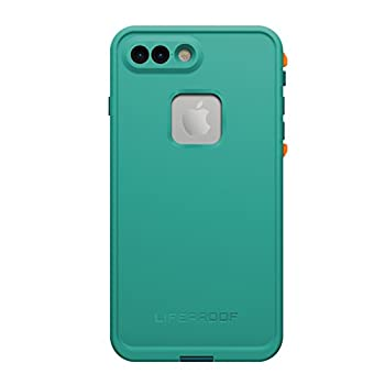 LifeProof FRĒ SERIES Waterproof Case for iPhone 7 Plus  ONLY  - Retail Packaging - SUNSET BAY  LIGHT TEAL/MAUI BLUE/MANGO TANGO   77-53998