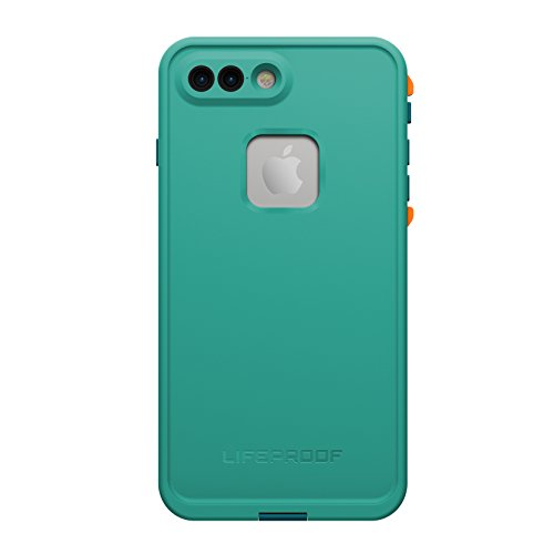 LifeProof FRĒ SERIES Waterproof Case for iPhone 7 Plus (ONLY) - Retail Packaging - SUNSET BAY (LIGHT TEAL/MAUI BLUE/MANGO TANGO) (77-53998)