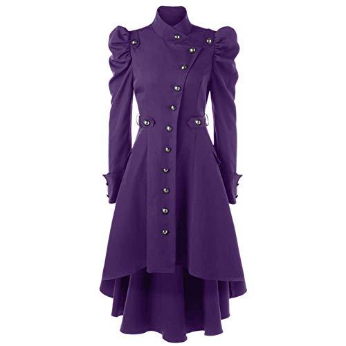 SHANGYI jas Lady Vintage Steampunk lange jas Gothic Mantel Lady Retro Jacket