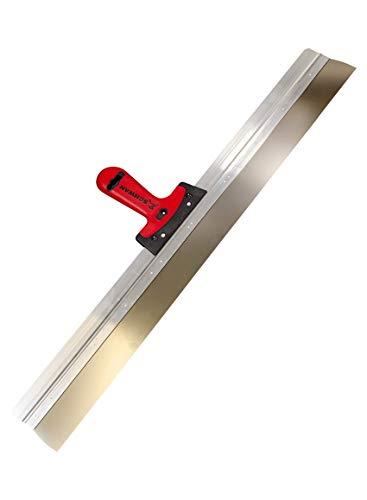 Flächenspachtel Alu mit Softgriff, Blattstärke 0,6 mm, Breite 800 mm, rostfrei, breit mit Stiel, Spachtel für Trockenbau Fassade Fassadenspachtel Flächenspachtel 800 mm