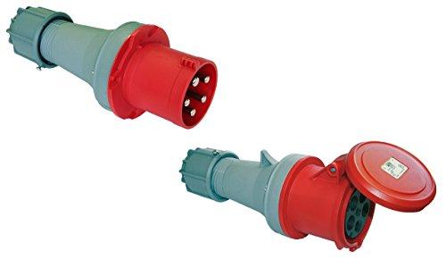 SET CEE Kupplung und Stecker 63A; 5-polig 6h 400 V Starkstrom Industriequalität PCE