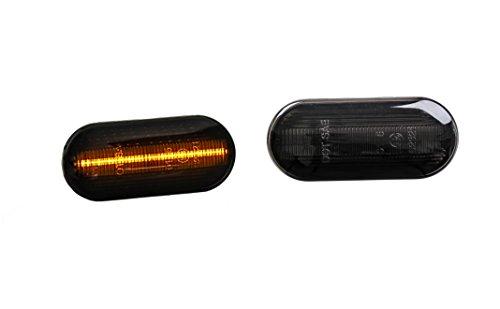 Premium Smoke Schwarz LED Seitenblinker Blinker Links Rechts 0611