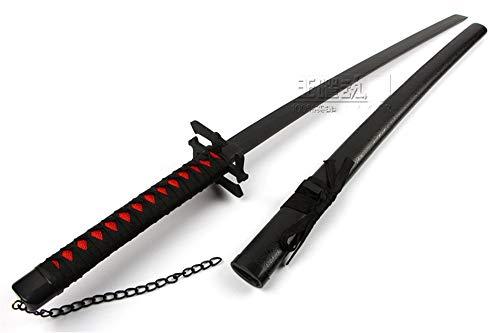 日本刀 模造刀 武士刀 木製 木 コスプレ 104cm 天鎖斬月 斬魄刀 無月 新月 (無月)