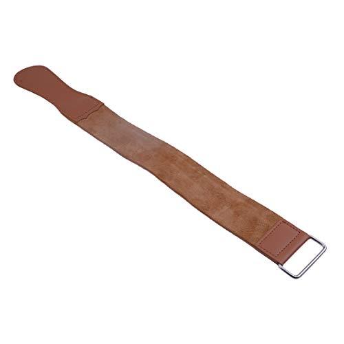 18inch dubbelzijdig lederen strop met handvat voor het slijpen van rechte scheermes gesneden slijpen riem scheergereedschap voor kapper
