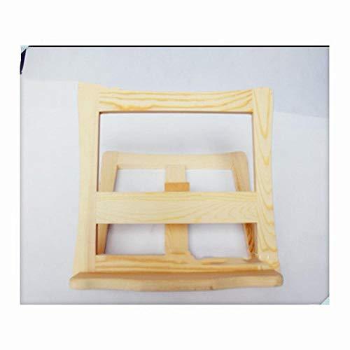 COOMOOC AdjustableLaptopStand, Adjustable wooden notebook stand,Foldable Portable Ventilated Desktop Laptop Holder-Wooden