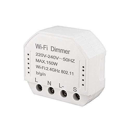 Busirsiz Wi-Fi Inteligente Dimmer Módulo de 220V-240V 150W Controlador de Temporizador Interruptor de la luz de Voz de Control Funciona for Tuya Amazon Alexa Inicio ifttt