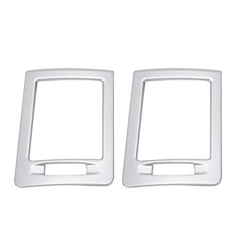 Gorgeri ABS 2Stk Linkslenker Klimaanlage Outlet Cover Ornament Passend für W204 C Klasse 07-13 Silber