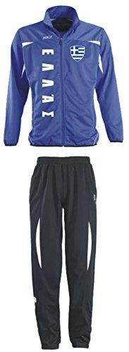 Aprom-Sports Griechenland Trainingsanzug - Sportanzug - S-XXL - Fußball Fitness (L)
